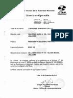 Licencia de Operación 18 BN