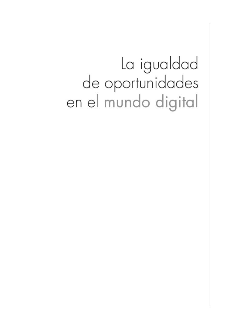 Igualdad de Oportunidades en El Mundo Digital - DDAA