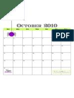October 2010 Calendar - TomKat Studio