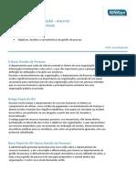 Administração - Aula 01 - Carr. Administrativas - Prof. Luiz Rezende