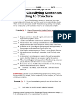 Worksheet 121 Classifying Sentences According to Structure.doc