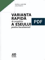 Varianta Rapida de Pregatire a Eseului Pt Bac
