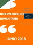 Observatorio Social - Humanitario VP. Informe 1er Semestre 2018