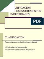 Clasificaciòn de Instrumentos
