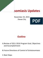 Schistosomiasis Updates November 24 2015
