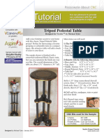 Tripod Pedestal Table Tutorial