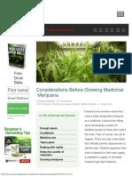How to Grow Medicinal Marijuana