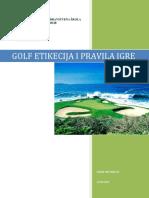 Zoran Antonijević-Golf Etikecija i Pravila Igre