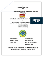 Marketing Strategies of Anmol Biscuit Pvt.ltd.