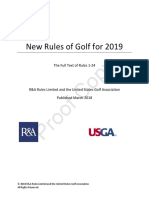 Rules of Golf for 2019