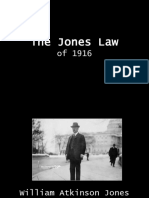 The Jones Law