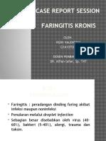 Ppt Crs Faringitis Kronis
