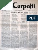 Carpatii Anul I Nr 1 10 Mai 1954