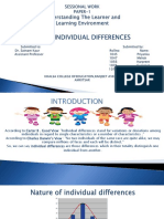 Case Study on Teaching with individual differences.