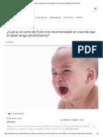 ¿Cuál Es El Zumo de Fruta Más Recomendable en Caso de Que El Bebé Tenga Estreñimiento