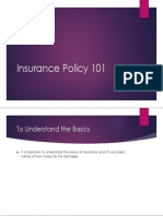 Insurance Policy - The Basics