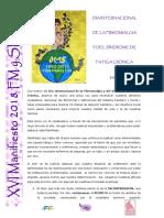 Manifiesto Día Internacional  fibromialgia 2018