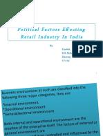 Environmerntal factors - Political Factors