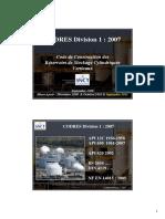 CODRES Division 1 Septembre 2008 Mise à Jour Septembre 2011 & Mars 2012