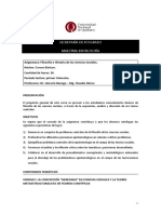 Prog Filosofia e Historia de Las Ciencias Sociales