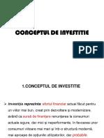 Conceptul de Investitie