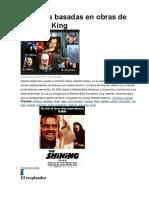 Películas Basadas en Obras de Stephen King