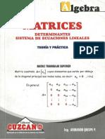 Cuzcano - Álgebra Matrices Teoría y Práctica - Uni