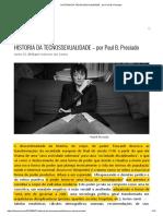História Da Tecnossexualidade - Por Paul b. Preciado