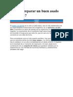 Cómo Preparar Un Buen Asado Argentino
