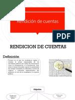 Rendicion de Cueentas