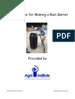 Rain Barrel Education Kit