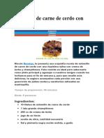 Solomillo de Carne de Cerdo Con Salsa