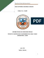 Informe Técnico de Condiciones Previas Canal 9