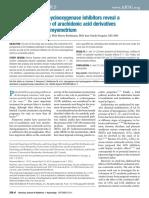 Lipoxygenase and Cyclooxygenase Inhibitors Reveal A