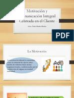 Motivación y Comunicación Integral Centrada en El Cliente