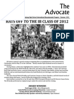 SPHS IB Advocate - Summer 2012
