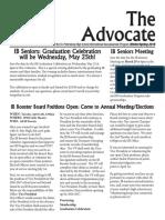 SPHS IB Advocate - Winter Spring 2015-16