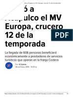 06-01-2018 Arribó a Acapulco El MV Europa, Crucero 12 de La Temporada.