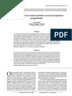 Usos do conceito de eventos privados à luz de proposições pragmatistas