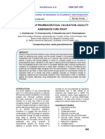An Overview of Pharmaceutical Validation