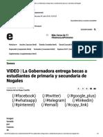 12-06-18 - Expreso - La Gobernadora Entrega Becas a Estudiantes de Primaria y Secundaria de Nogales