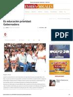 13-06-18 - Nuevo Dia Nogales - Es educación prioridad_ Gobernadora