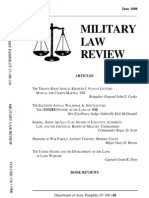 United States Department of Army - Military Law Review