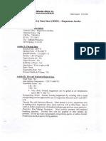 Magnesium Anodes MSDS