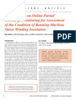A Perspective on Online Partial Discharge Monitoring for Assessment of the Condition of Rotating Machine Stator Winding Insulation