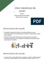 Unidad 3 Elementos Mecánicos de Unión