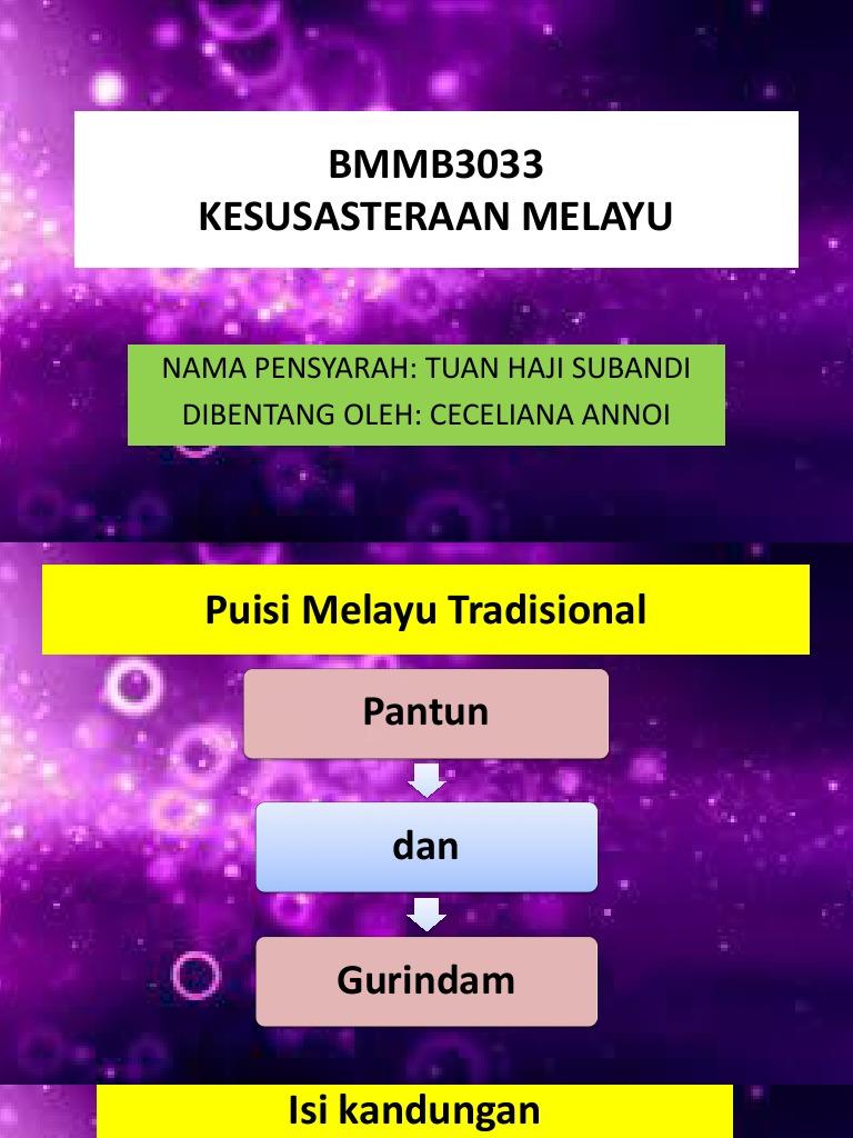 Minggu 2 Puisi Melayu Tradisional