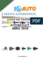 Lista de Precios Grapas - Abril 2018