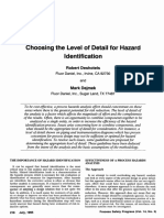 Choosing the Level of Detail for Hazard Identification