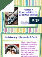 Pobreza y Responsabilidad de Las Politicas Publicas